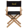 Personalized Kid Size Directors Chair in Black
