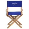 Flash Furniture Personalized Kid Size Directors Chair in Blue