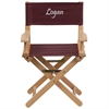 Personalized Kid Size Directors Chair in Brown