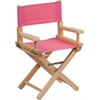 Flash Furniture Kid Size Directors Chair in Pink