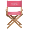 Flash Furniture Personalized Kid Size Directors Chair in Pink