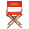 Personalized Kid Size Directors Chair in Red