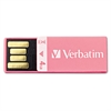 Verbatim Clip-It USB 2.0 Flash Drive, 4GB, Pink