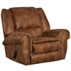 Flash Furniture Contemporary, Breathable Comfort Padre Almond Fabric Rocker Recliner with Brass Accent Nails