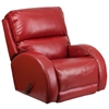 Contemporary Ty Red Leather Rocker Recliner