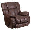 Contemporary, Breathable Comfort Padre Espresso Fabric Rocker Recliner