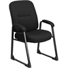 HERCULES Series 400 lb. Capacity Big & Tall Black Fabric Executive Side Chair with Sled Base