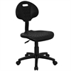 """Tuff Butt"" Soft Black Polyurethane Utility Swivel Task Chair"