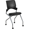 Flash Furniture Galaxy Mobile Nesting Chair with Black Leather Seat