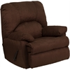 Flash Furniture Contemporary Montana Chocolate Microfiber Suede Rocker Recliner