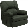 Flash Furniture Contemporary Montana Loden Microfiber Suede Rocker Recliner