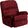 Flash Furniture Contemporary Tahoe Burgundy Chenille Rocker Recliner