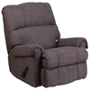 Contemporary Couger Gray Chenille Rocker Recliner
