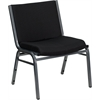 Flash Furniture HERCULES Series 1000 lb. Capacity Big and Tall Extra Wide Black Fabric Stack Chair with Ganging Bracket