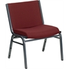 HERCULES Series 1000 lb. Capacity Big and Tall Extra Wide Burgundy Fabric Stack Chair with Ganging Bracket