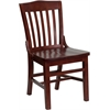 Flash Furniture HERCULES Series Mahogany Finished School House Back Wooden Restaurant Chair