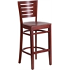 Flash Furniture Darby Series Slat Back Mahogany Wooden Restaurant Barstool