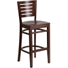Flash Furniture Darby Series Slat Back Walnut Wooden Restaurant Barstool