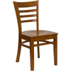 HERCULES Series Cherry Finished Ladder Back Wooden Restaurant Chair