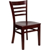 Flash Furniture HERCULES Series Mahogany Finished Ladder Back Wooden Restaurant Chair