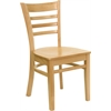 HERCULES Series Natural Wood Finished Ladder Back Wooden Restaurant Chair
