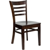 Flash Furniture HERCULES Series Walnut Finished Ladder Back Wooden Restaurant Chair