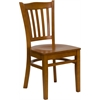 Flash Furniture HERCULES Series Cherry Finished Vertical Slat Back Wooden Restaurant Chair