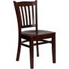 Flash Furniture HERCULES Series Mahogany Finished Vertical Slat Back Wooden Restaurant Chair