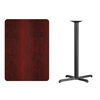 30'' x 42'' Rectangular Mahogany Laminate Table Top with 22'' x 30'' Bar Height Table Base