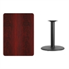 Flash Furniture 30'' x 42'' Rectangular Mahogany Laminate Table Top with 24'' Round Table Height Base