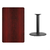30'' x 48'' Rectangular Mahogany Laminate Table Top with 24'' Round Table Height Base
