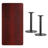 Flash Furniture 30'' x 60'' Rectangular Mahogany Laminate Table Top with 18'' Round Table Height Bases