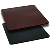 Flash Furniture 24'' Square Table Top with Black or Mahogany Reversible Laminate Top