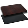 30'' x 42'' Rectangular Table Top with Black or Mahogany Reversible Laminate Top