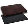 30'' x 48'' Rectangular Table Top with Black or Mahogany Reversible Laminate Top