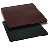 Flash Furniture 42'' Square Table Top with Black or Mahogany Reversible Laminate Top