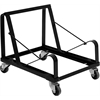 Flash Furniture HERCULES Series Black Steel Sled Base Stack Chair Dolly