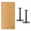 Flash Furniture 30'' x 60'' Rectangular Natural Laminate Table Top with 18'' Round Table Height Bases