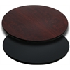 Flash Furniture 24'' Round Table Top with Black or Mahogany Reversible Laminate Top