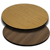 30'' Round Table Top with Natural or Walnut Reversible Laminate Top
