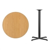 Flash Furniture 36'' Round Natural Laminate Table Top with 30'' x 30'' Bar Height Table Base