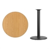 Flash Furniture 36'' Round Natural Laminate Table Top with 24'' Round Bar Height Table Base