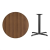 Flash Furniture 36'' Round Walnut Laminate Table Top with 30'' x 30'' Table Height Base