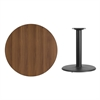 Flash Furniture 36'' Round Walnut Laminate Table Top with 24'' Round Table Height Base