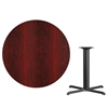 Flash Furniture 42'' Round Mahogany Laminate Table Top with 33'' x 33'' Table Height Base