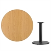 42'' Round Natural Laminate Table Top with 24'' Round Table Height Base
