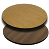 42'' Round Table Top with Natural or Walnut Reversible Laminate Top