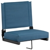 Grandstand Comfort Seats by Flash with Ultra-Padded Seat in Teal