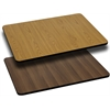 30'' x 60'' Rectangular Table Top with Natural or Walnut Reversible Laminate Top