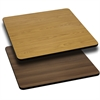 42'' Square Table Top with Natural or Walnut Reversible Laminate Top